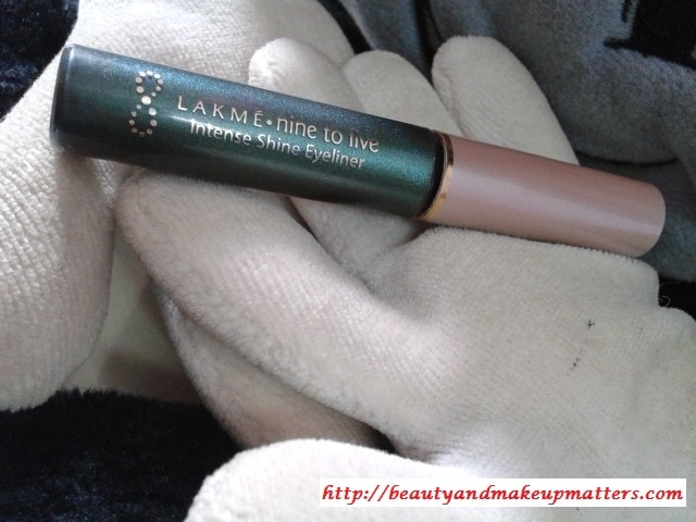 Lakme-Nine-To-Five-Intense-Shine-Eye-Liner-Olive-Review