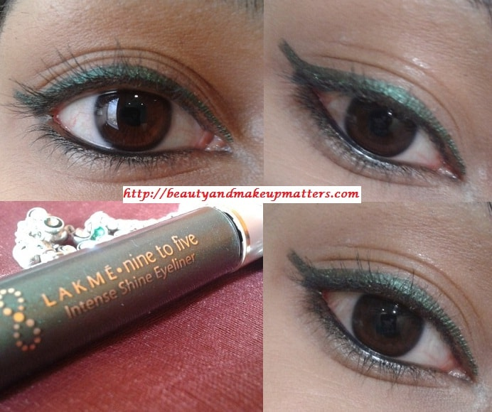 Lakme-Nine-To-Five-Intense-Shine-Liner-Olive-EOTD