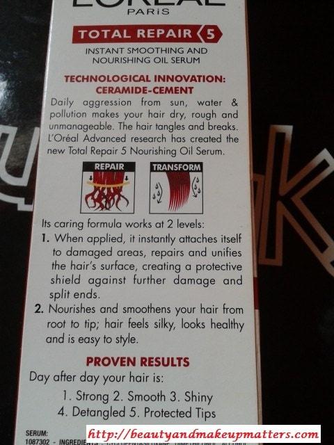 Loreal-Total-Repair-5-Hair-Serum-Claims