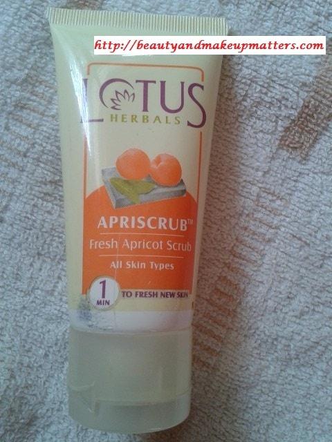 Lotus-Apricot-Scrub-Review