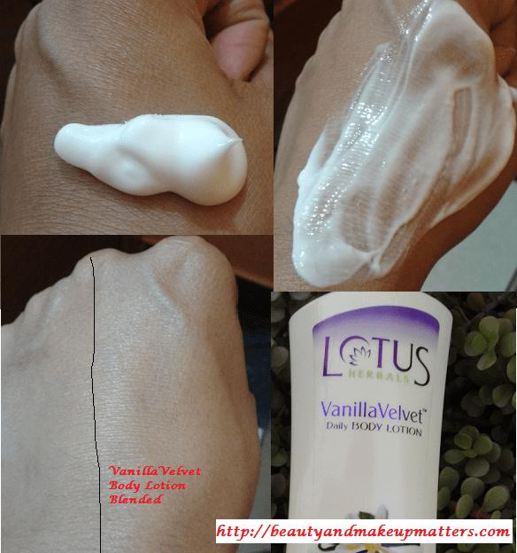 Lotus-Herbals-Vanilla-Velvet-Body-Lotion-Swatches