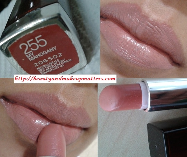 Maybelline-ColorSensational-Lipstick-My-Mahogony-Review