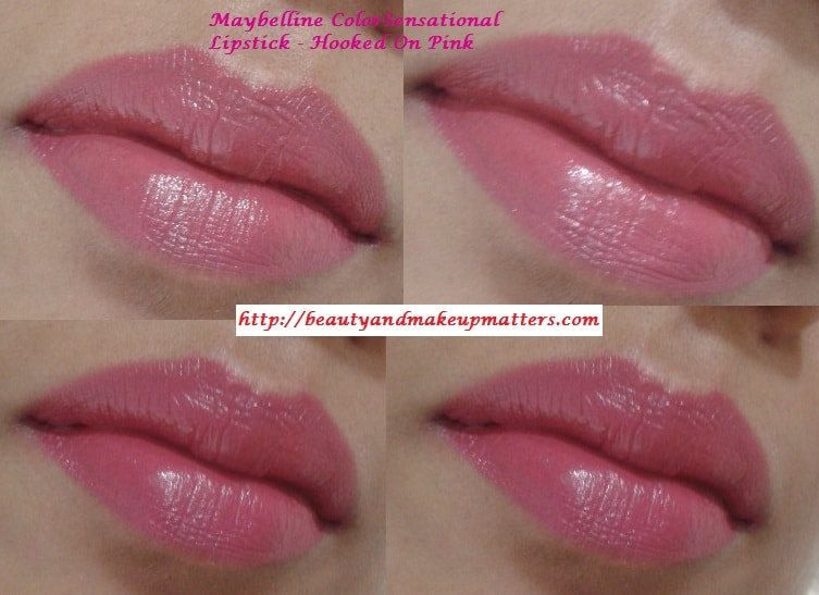 Maybelline-Lipstick-Hooked-On-Pink-LOTD