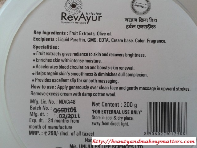 Revayur-Massage-Facial-cream-Claims
