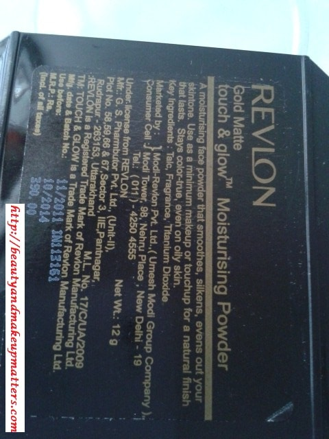 Revlon-Touch-and-Glow-Moisturizing-Powder-Gold-Matte-Claims