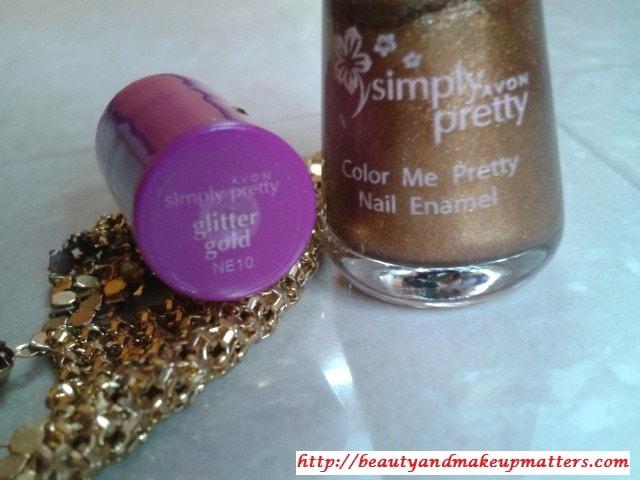 Avon-Simply-Pretty-Nail-Enamel-Glitter-Gold