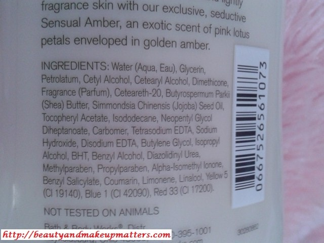 Bath-and-Body-Works-Body-Lotion-Sensual-Amber-Ingredients