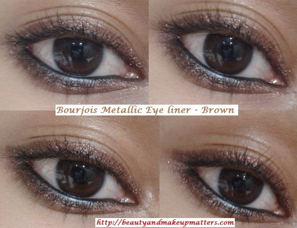 Bourjois-Regard-Effet-Metallise-Metallic-Eye-Liner-Brown-EOTD