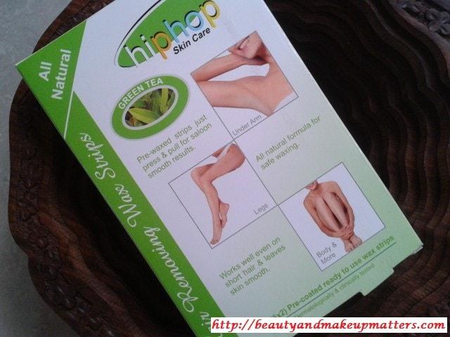 HipHop-Skin-Care-Waxing-Strips-Green-Tea