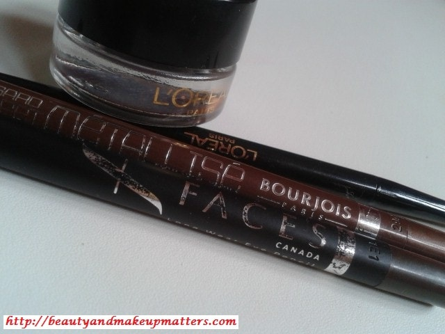 L'Oreal-Paris-Gel-Eye-Liner-Bourjois-Paris-Faces-Canada-Metal-Brown-Eye-Pencil