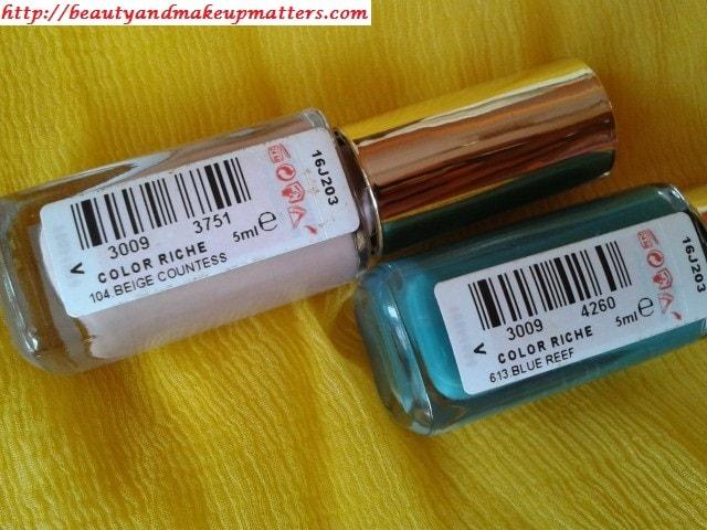 Loreal-Paris-Color-Riche-Nail-Paints-Blue-Reef-Beige-Countless