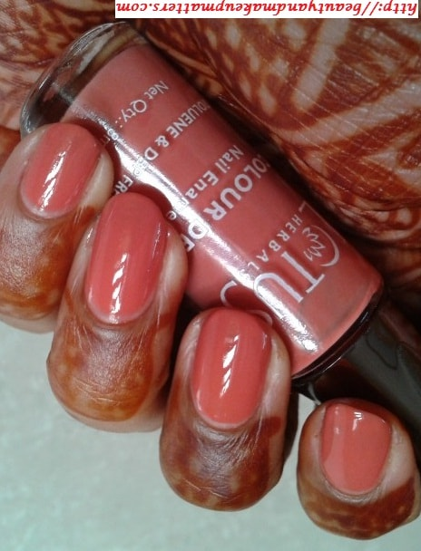 Lotus-Herbals-Color-Dew-Nail-Enamel-Peach-Perfect-Swatch