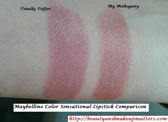Maybelline-Color-Sensation-Lipstick-Totally-Toffee-and-My-Mahogany-Swatch