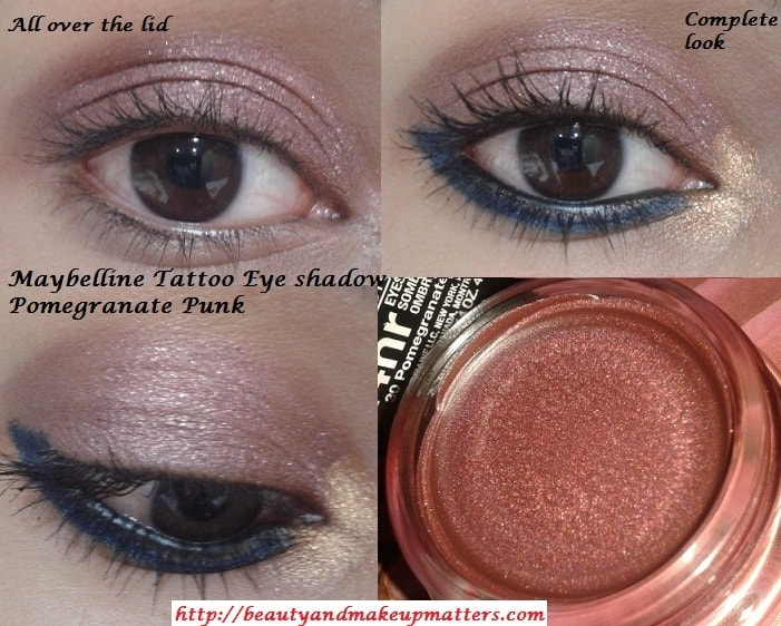 Maybelline-Color-Tattoo-EyeShadow-PomegranatePunk-EOTD