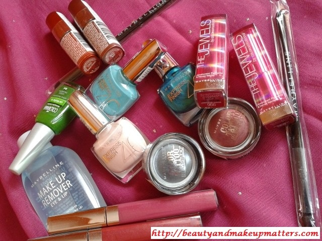 Maybelline-MakeupRemover-NailPaints-Lipsticks-Jewels