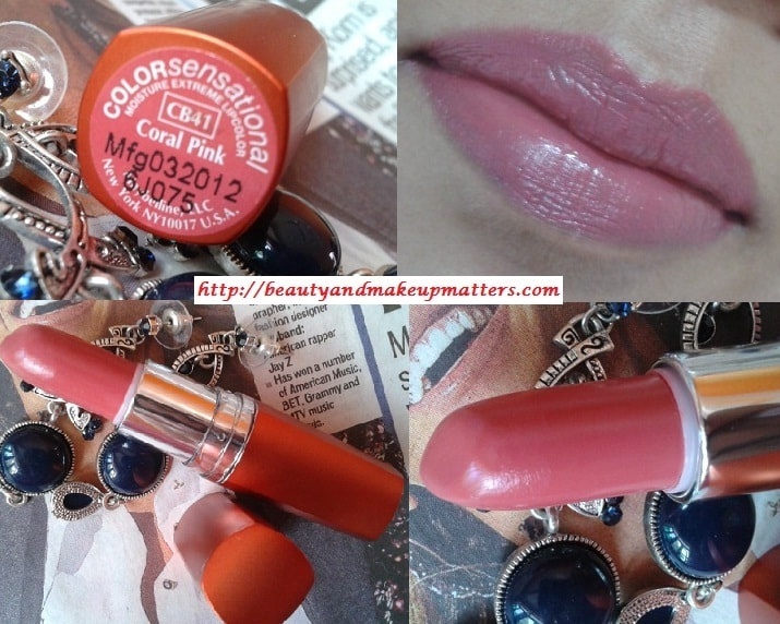 Maybelline-Moisture-Extreme-Lipstick-Coral-Pink-Look