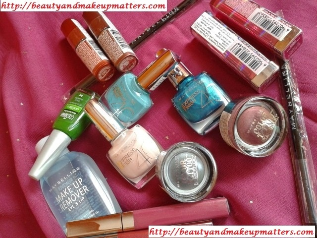Maybelline-Shopping-Haul-Lipsticks-NailPaints-EyeShadows