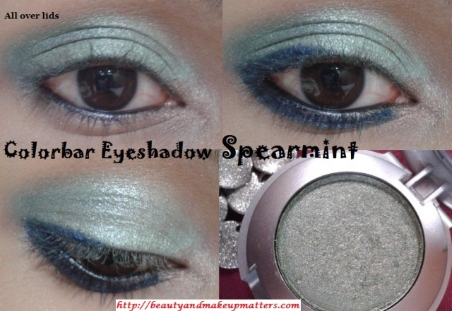 Colorbar-Eye-Shadow-Spearmint-EOTD