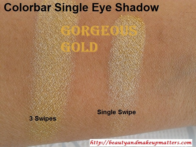 Colorbar-Gorgeous-Gold-EyeShadow-Swatch