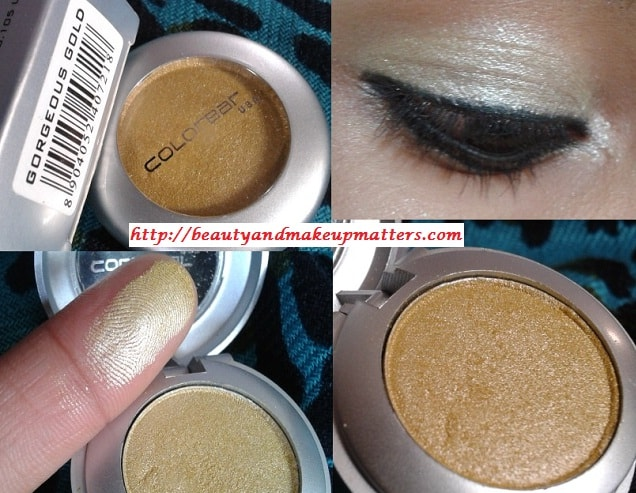 Colorbar-Gorgeous-Gold-Single-Eye-Shadow-Look