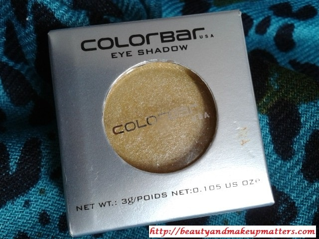 Colorbar-Gorgeous-Gold-Single-Eye-Shadow-Review