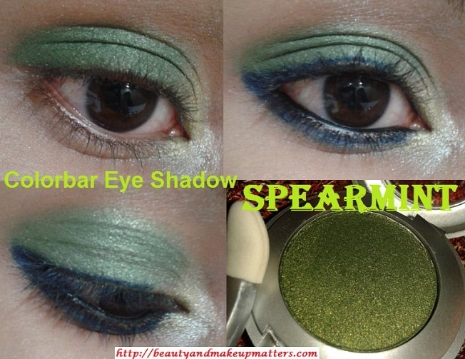 Colorbar-Single-Eye-Shadow-Green-Stroke-006-EOTD