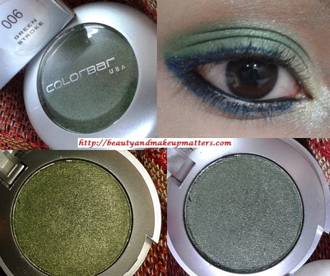 Colorbar-Single-Eye-Shadow-Green-Stroke-Look