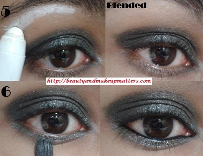 Eye-Makeup-Tutorial-Greyish-Black-Shimmery-Smokey-Eyes-Look2
