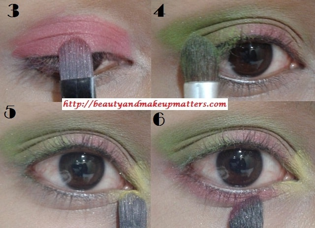Eye-Makeup-Tutorial-Pink-and-Green-Eyes-Using-Inglot-EyeShadow-Look2