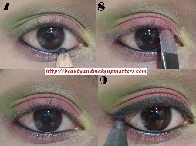Eye-Makeup-Tutorial-Pink-and-Green-Eyes-Using-Inglot-EyeShadow-Look3