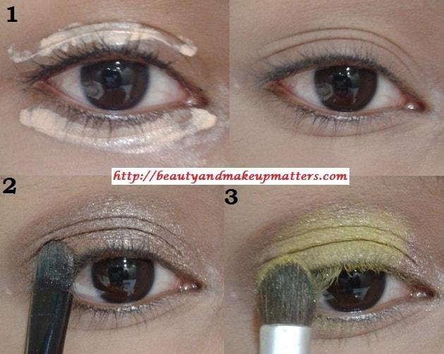 Eye-Makeup-Tutorial-Pink-and-Yellow-Eyes-Using-Inglot-EyeShadow-Look1