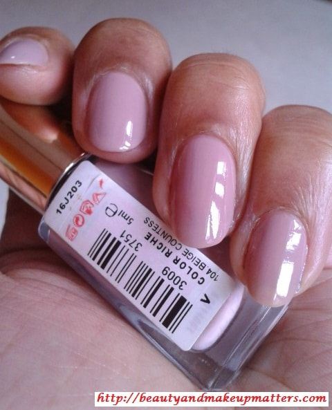 L'Oreal-Color-Riche-Nail-Paint-Beige-Countless-104-NOTD