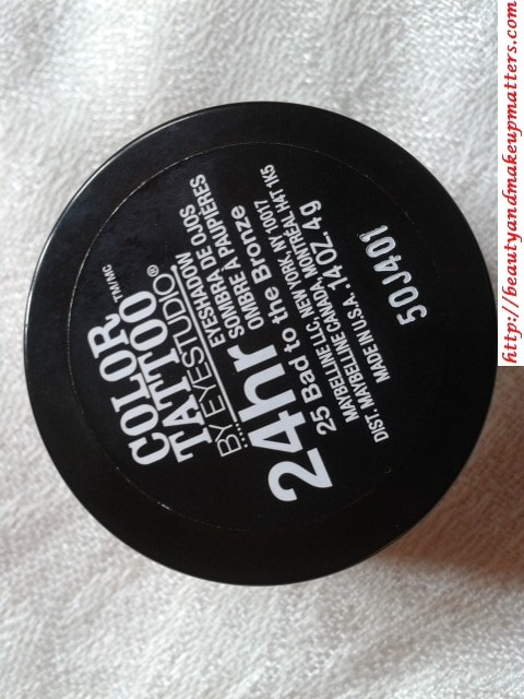 Maybelline-Color-Tattoo-Eye-shadow-Bad-To-Bronze-Review