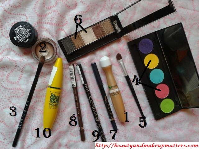 Products-Used-For-Pink-and-Yellow-Eyes-Using-Inglot-EyeShadow