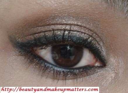 Shimmery-Bronzy-Brown-Soft-Smokey-Eyes-Look