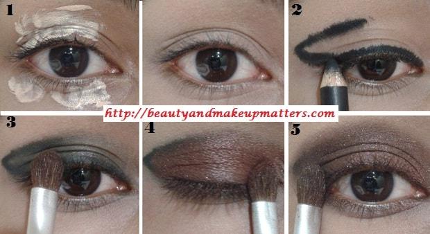 EyeMakeupTutorial-Metallic-Copper-Brown-Smokey-Eyes-Look-1