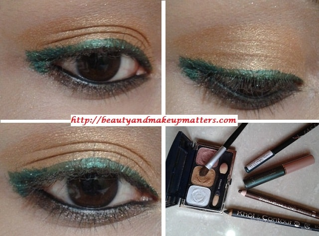 Bright-Golden-Eyes-With-Green-Liner-Look