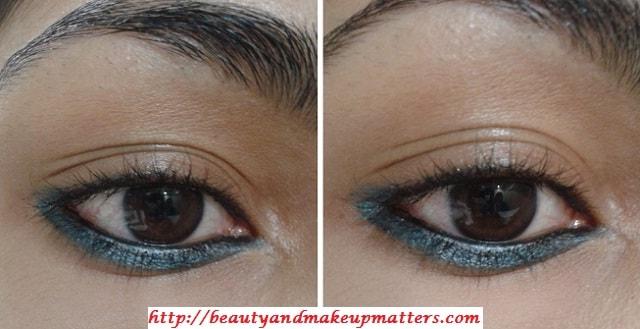 Faces-AquaBlue-EyeLiner-On-LowerLashLine-EOTD