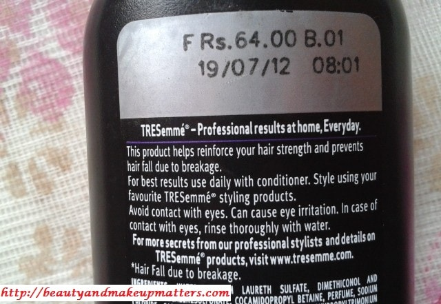 Tresmme-Hair-Fall-Defense-Shampoo-Claims