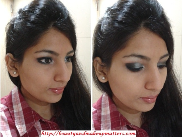 Eye-Makeup-Shimmery-Grey&Black-Eyes-Look