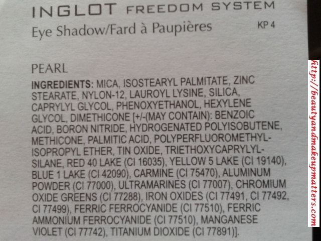 Inglot-Freedom-System-Eye-Shadow-Pearl-421-Ingredients