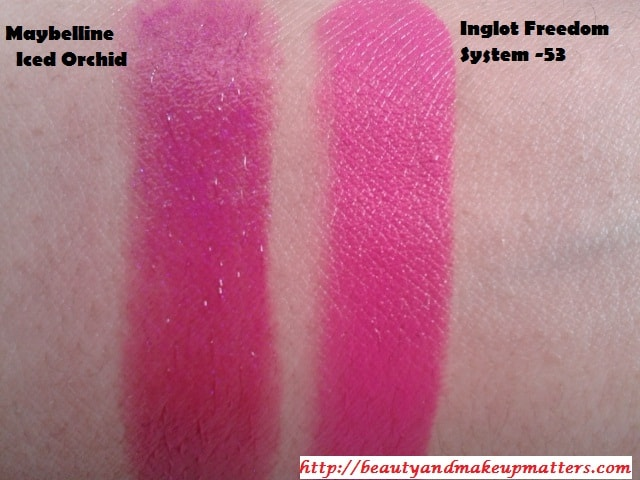Inglot-Freedom-System-Lipstick-53-Swatch-Comparison
