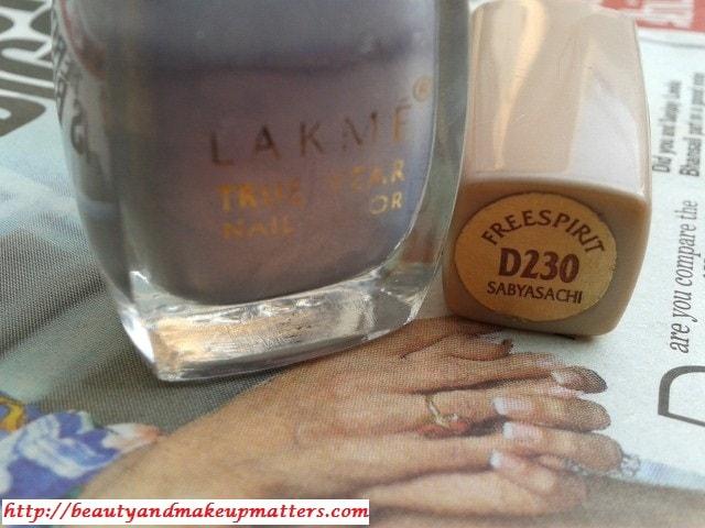 Lakme-True-Wear-Nail-Enamel-Freespirit-D230-Sabhyachi-Review