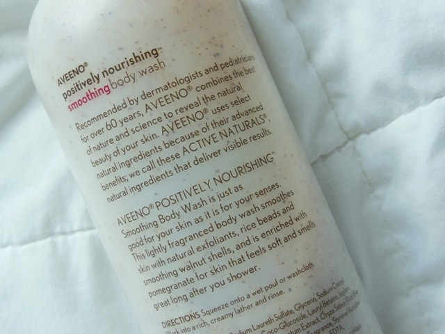Aveeno Positively Nourishing Smoothing Body Wash Claims