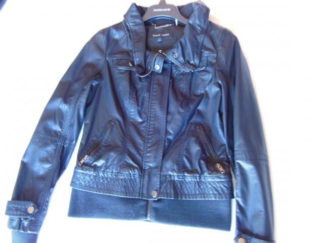 Black Rivet Black Leather Jacket@Wilsons Leather