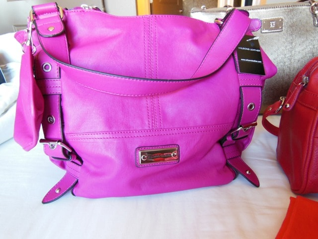 Franco Sarto Hot Pink HandBag@Wilsons Leather
