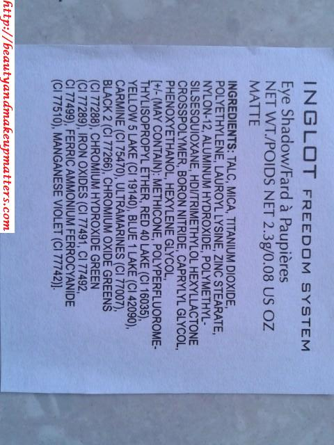 Inglot-Freedom-System-Eye-Shadow-Matte-388-Ingredients