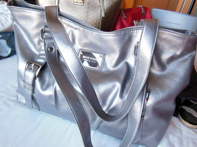 Nine West Silver Bag@Wilsons Leather