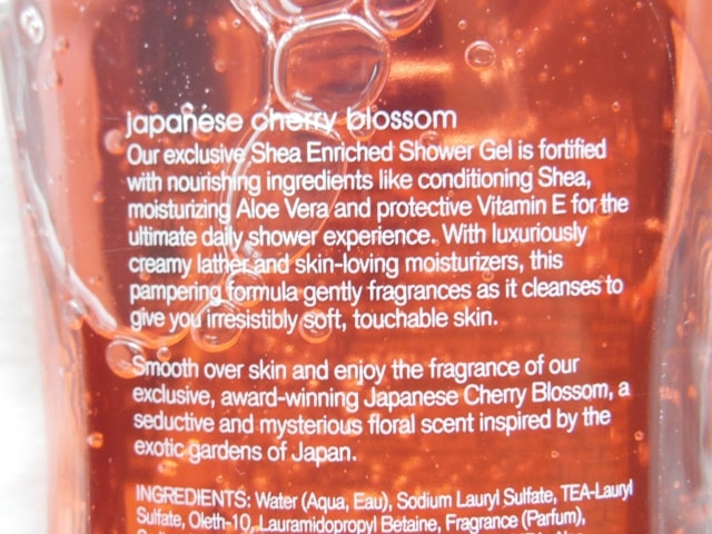 Bath & Body Works Japanese Cherry Blossom Shower Gel Claims
