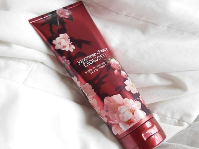 Bath & Body Works Triple Moisture Body Cream-Japanese Cherry Blossom Review